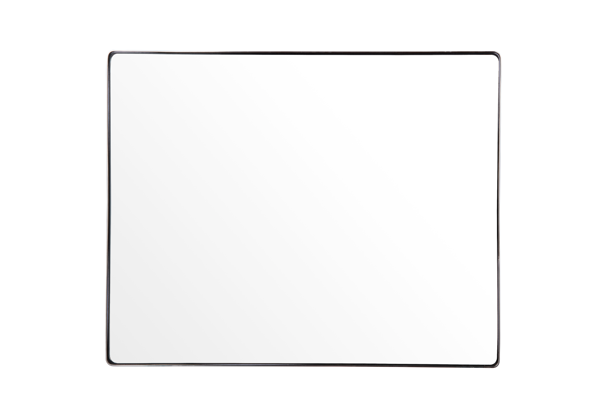 Kye 30x24 Rounded Rectangular Wall Mirror - Brushed Nickel - 407A02BN