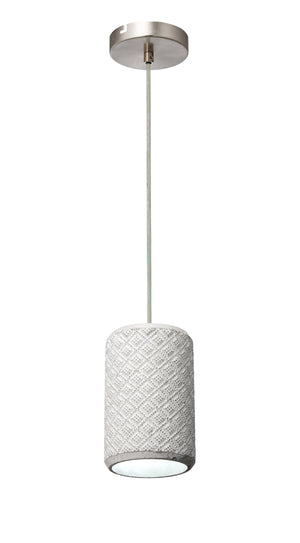 Concrete Diamond Weave Mini Pendant 211M01A
