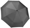 Pewter Compact Windproof 60 mph Outdoor 8 Rib Travel Umbrella