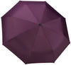Eggplant Compact Windproof 60 mph Outdoor 8 Rib Travel Umbrella