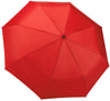 Red Compact Windproof 60 mph Outdoor 8 Rib Travel Umbrella