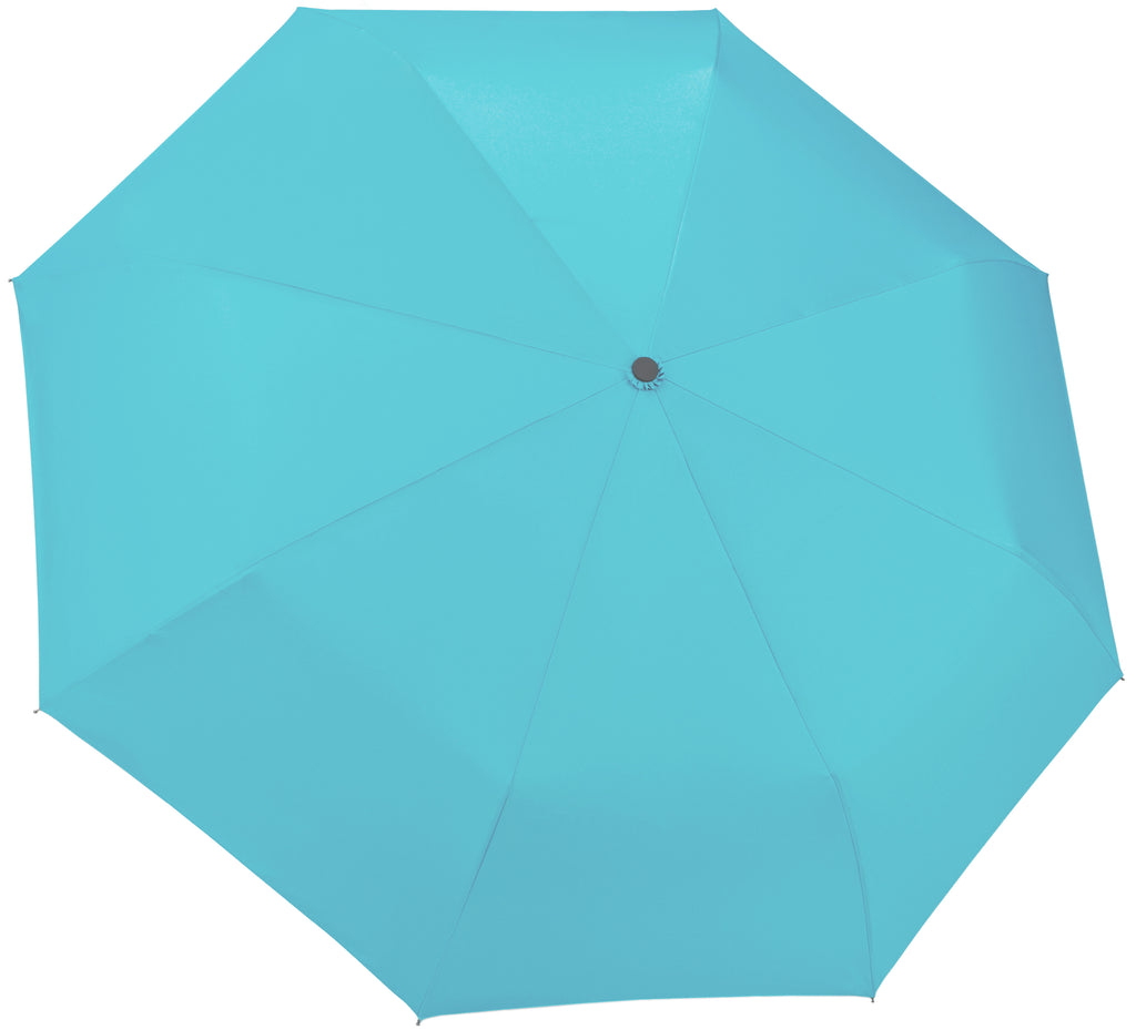 Turquoise Compact Windproof 60 mph Outdoor 8 Rib Travel Umbrella