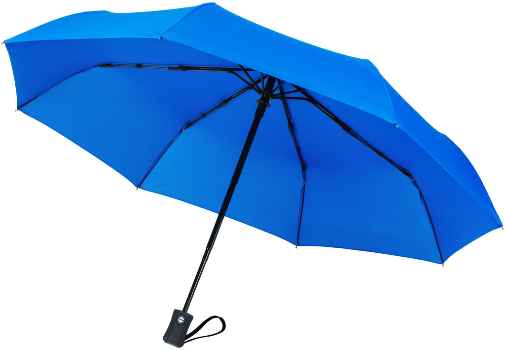 Blue Compact Windproof 60 mph Outdoor 8 Rib Travel Umbrella