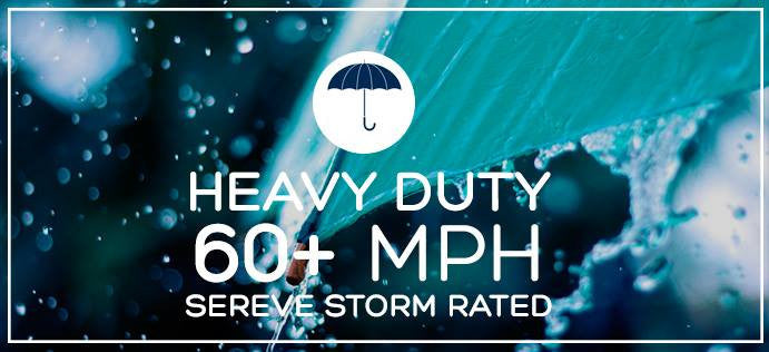 Heavy Duty 60+ MPH Severe Storm Rated