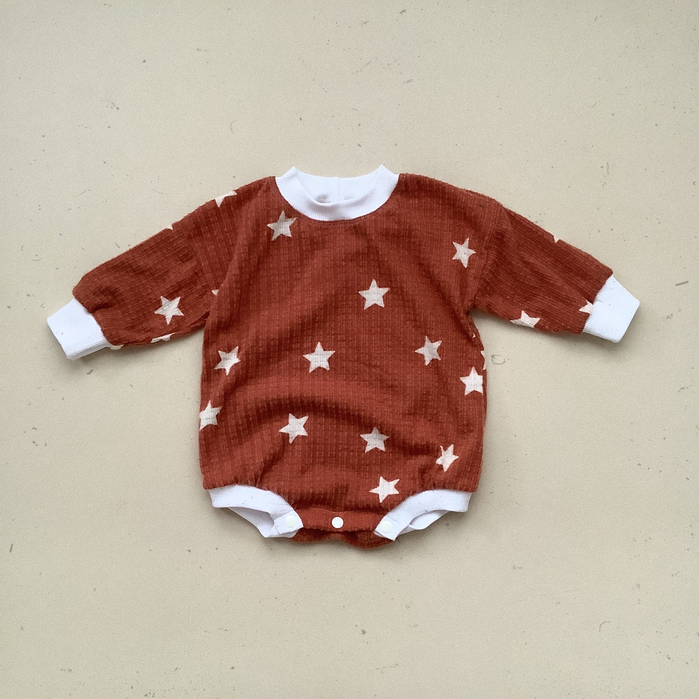 Rust Star Oversize Sweater Romper