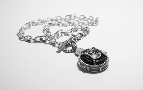 Fob Chain Necklace with WM Locket
