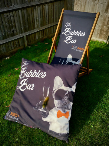 The Bubbles Bar Outdoor Giant Cushion