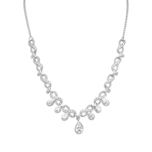 "16"" + 2"" CZ Infinity Design Necklace"