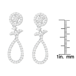 14K White Gold 1 1/3ct. TDW Round-cut Diamond Earrings