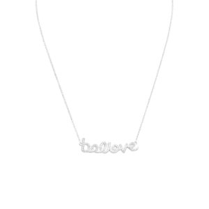 "16"" CZ ""believe"" Necklace"