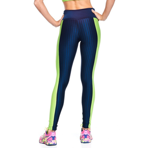 Navy with Green 3D Disco Legging