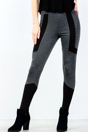 Charcoal / Black Stirrup Leggings