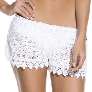 Cover-Ups - Heavenly Embroidered Shorts