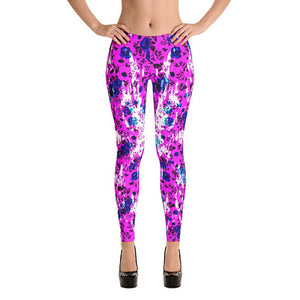 Violet Graffiti Sport Leggings