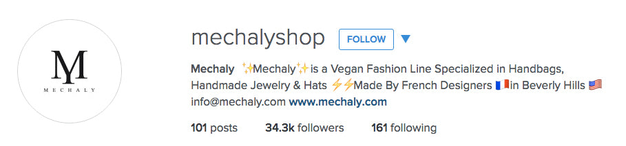 Follow @MechalyShop on Instagram