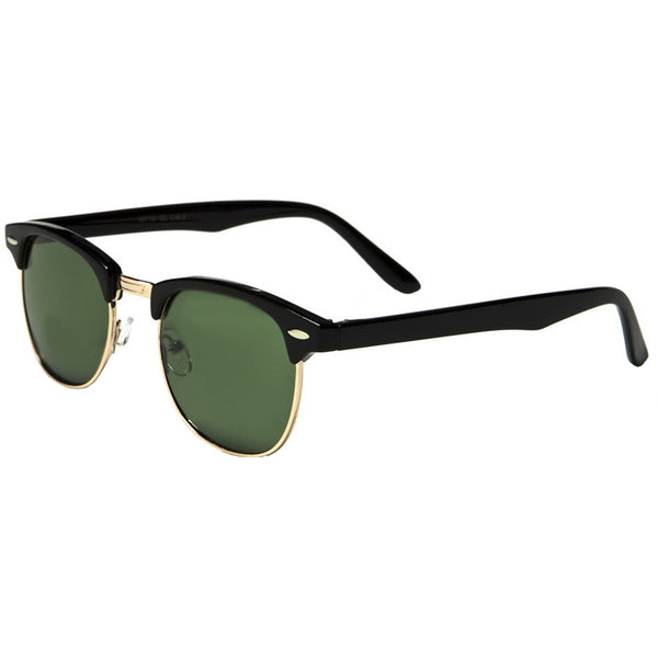 Mechaly Clubmaster Style Black Sunglasses