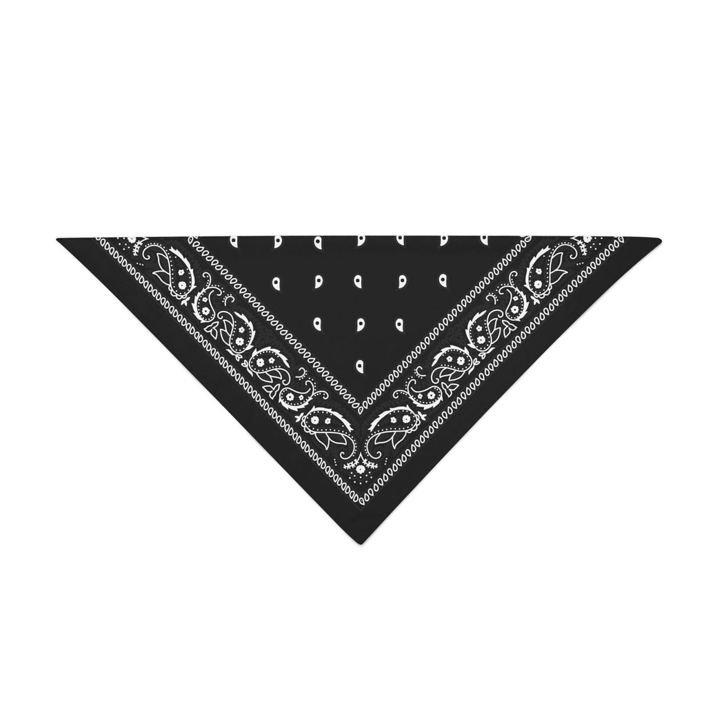 Triangle Bandana - Black Paisley