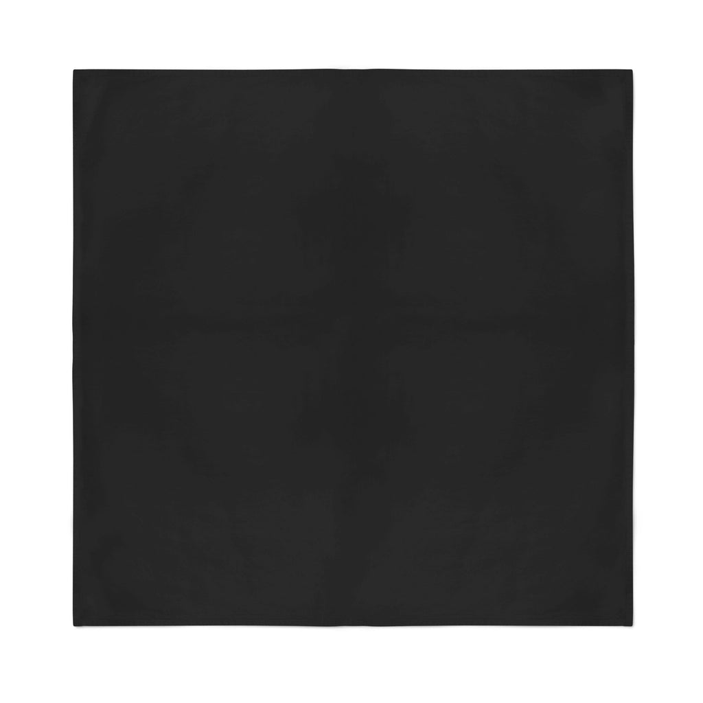 Square Bandana - Black Plain