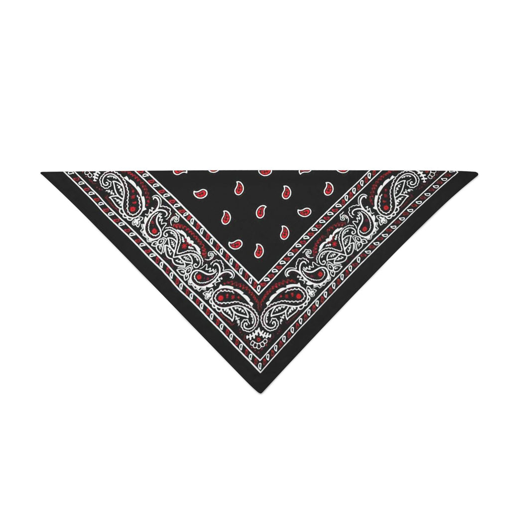 Triangle Bandana - Black & Red Paisley