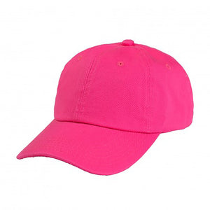 Cotton Dad Hat - Hot Pink Plain