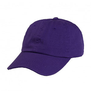Cotton Dad Hat - Purple Plain