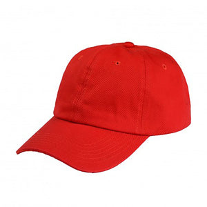 Cotton Dad Hat - Red Plain