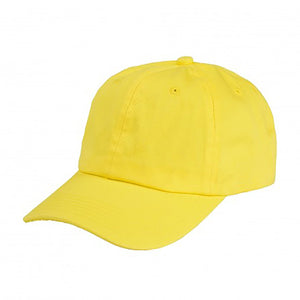 Cotton Dad Hat - Yellow Plain