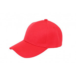 Baseball Cap - Red Plain
