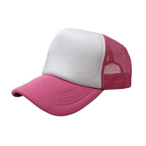 Trucker Hat - White & Pink Plain
