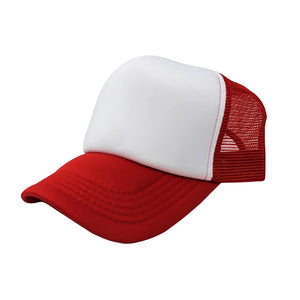Trucker Hat - White & Red Plain
