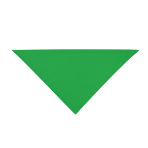 Triangle Bandana - Green Plain
