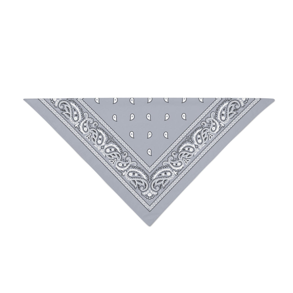 Triangle Bandana - Grey Paisley