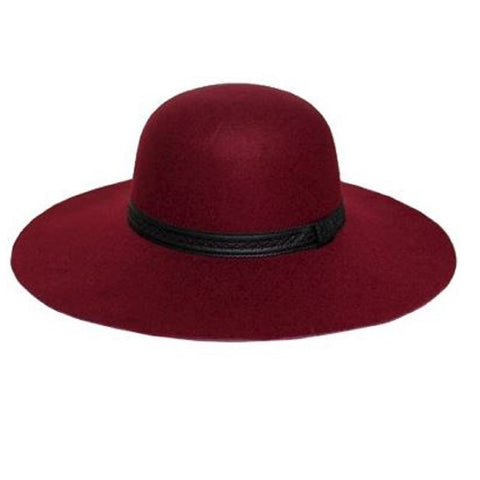 Mechaly Women's Madison Burgundy Fedora Vegan Hat