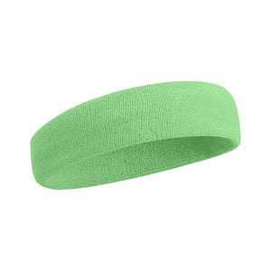 Sport Headband - Neon Green Plain