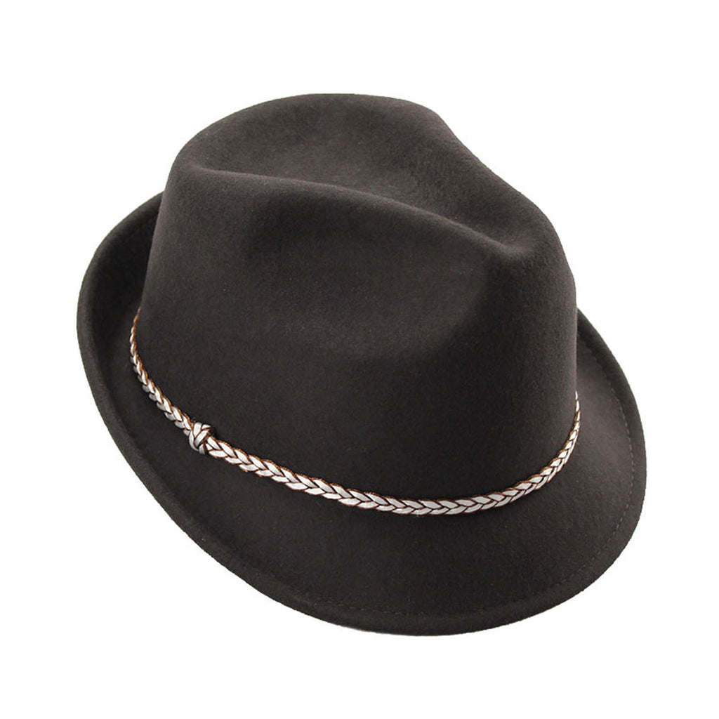 Hailey Brown Fedora Hat
