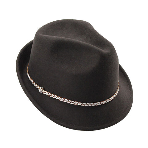 Mechaly Women's Hailey Brown Fedora Hat