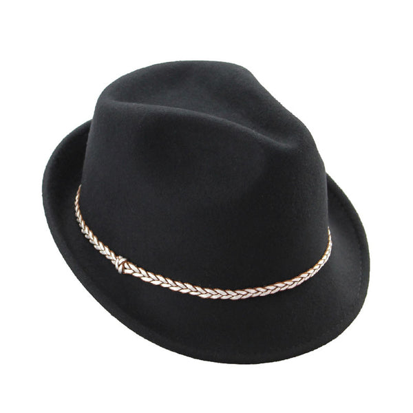 Hailey Black Fedora Hat