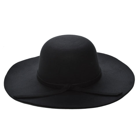 Mechaly Women's Eva Black Fedora Vegan Hat