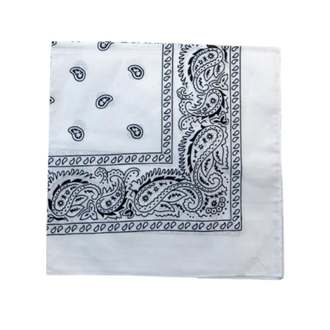 Mechaly Paisley 100% Cotton White Vegan Bandanas