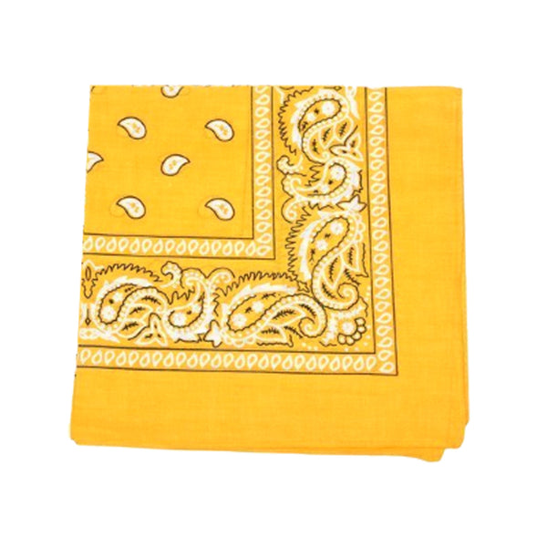 Mechaly Paisley 100% Cotton Yellow Vegan Bandanas