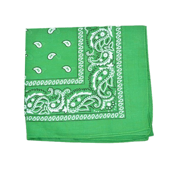 Mechaly Paisley 100% Cotton Green Vegan Bandanas