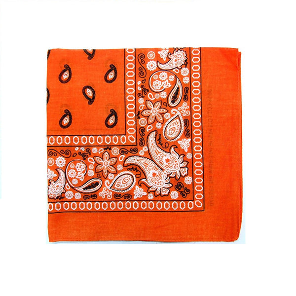 Mechaly Paisley 100% Cotton Orange Vegan Bandanas
