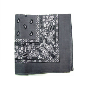 Mechaly X Paisley 100% Cotton Grey Vegan Bandana