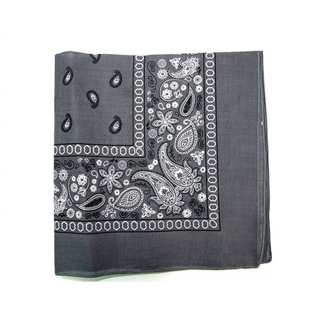 Mechaly Paisley 100% Cotton Grey Vegan Bandanas