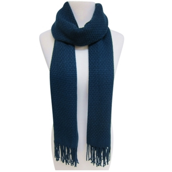 Mechaly Women's Soft Navy Vegan Scarf