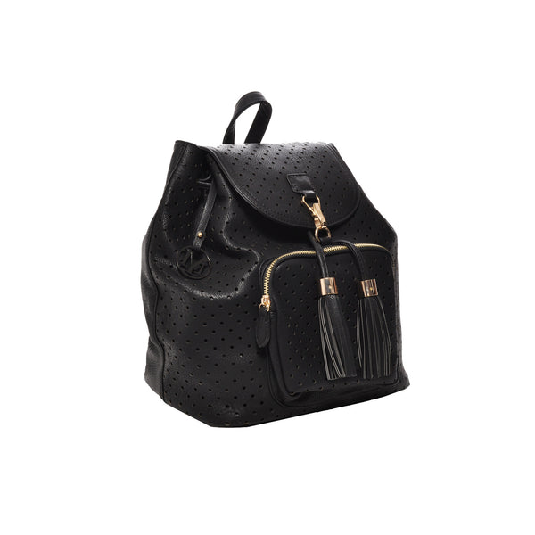 Jamie Black Vegan Leather Backpack