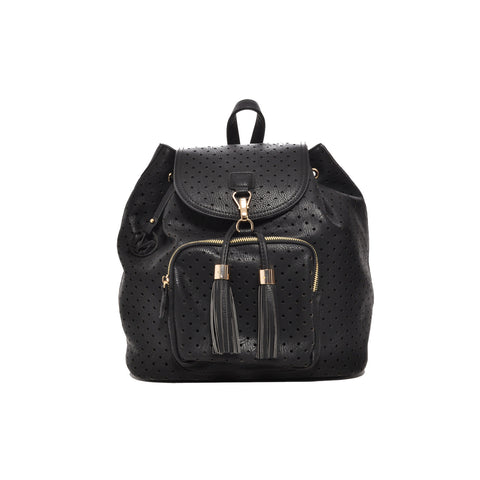 Mechaly Women's Jamie Black Vegan Leather Backpack