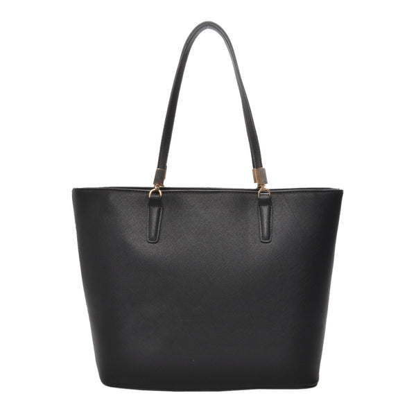 Sydney Black Vegan Leather Tote Handbag