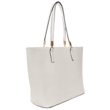 Mechaly Women's Sydney White Vegan Leather Tote Handbag