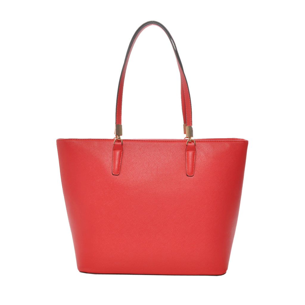 Sydney Red Vegan Leather Tote Handbag